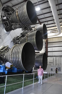 No visit would be complete without standing next to the biggest rocket engines ever.