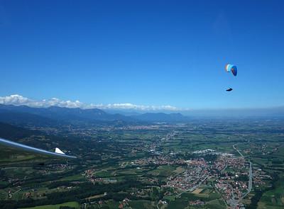 Flight from Voghera to Torino 2015