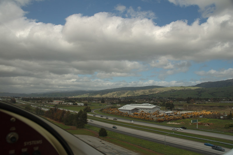 Another view of taking off from Runway 32, with 101 Freeway to the right.