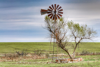 Lonely Windmill Near Burns