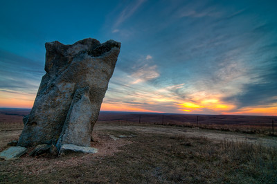 Teter Rock at Sunset