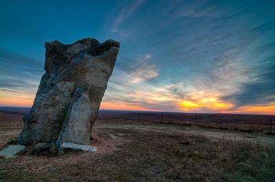 Teter Rock at Sunset