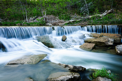 The Foamy Water of the Waterfall at Pillsbury Crossing