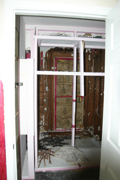 Demo: day 1 - what will be the master bath & closet area