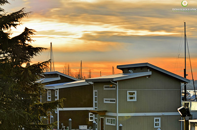 Sunrise over The creek . Spirit Trail Ocean Homes community