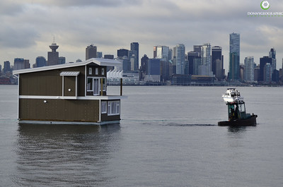 The tow continues with the beautiful Vancouver Skyline in the background