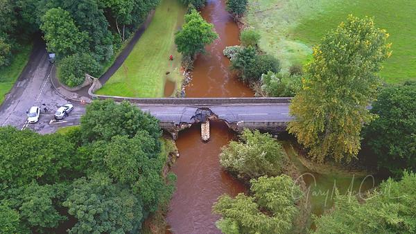 Collapsed bridge, Claudy