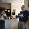 Scenes at Building 1 of The Commons in Billerica, which flooded in March temporarily displacing many residents and damaging the building. Mary and husband Jim Monty in the smaller apartment that Jim saiys they had to move into for the same rent as their damaged apartment, or else be evicted. (SUN/Julia Malakie)