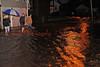 Quaker Run overflowing into Webster Street in Ranshaw on Thursday morning, Sept. 08.