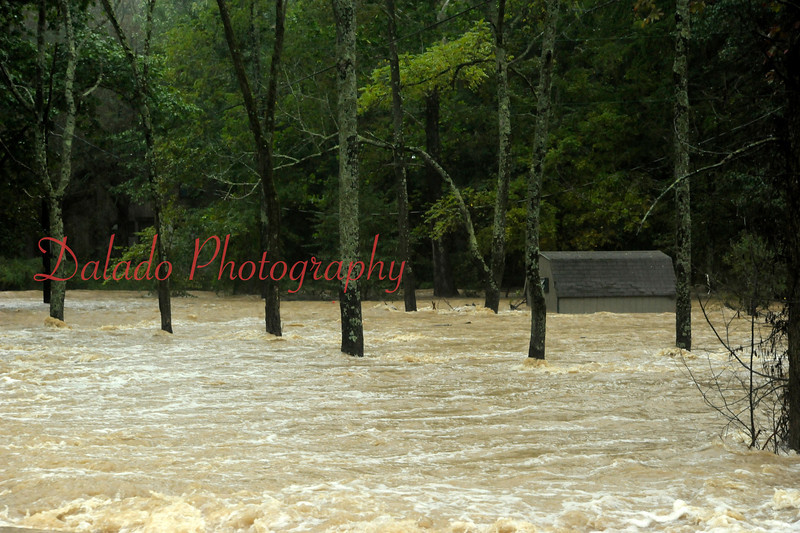 View from Krick Road, downstream of Knoebels on Wednesday, Sept. 07.