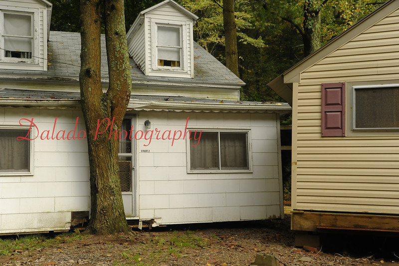 Cottages down stream of Knoebels.