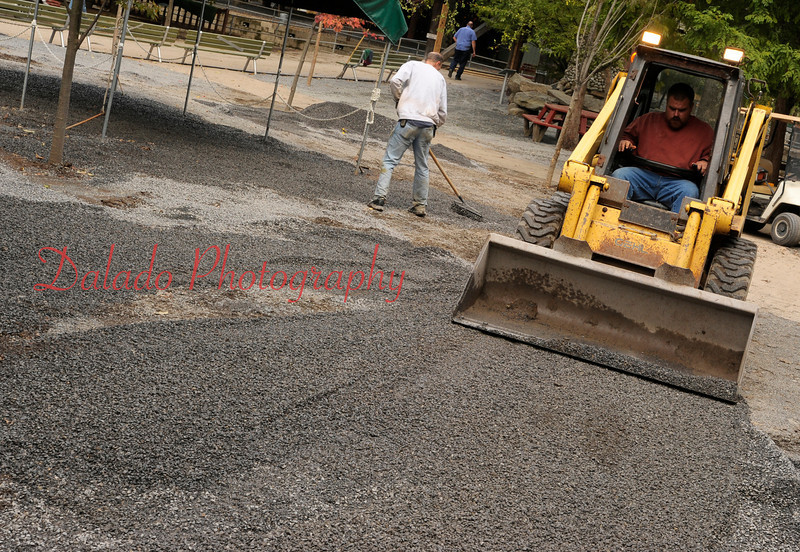Cleanup continues at Knoebels Amusement Resort on Friday, Sept. 16.