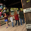 Chloe Stine walks through a covered bridge on Saturday, Sept. 17.