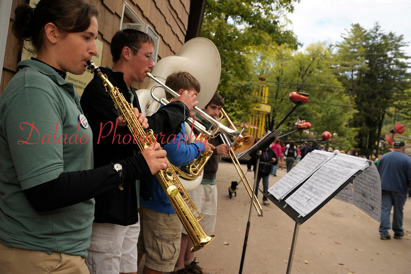 The Knoebels Amusement Park band entertains guests on Saturday, Sept. 17.