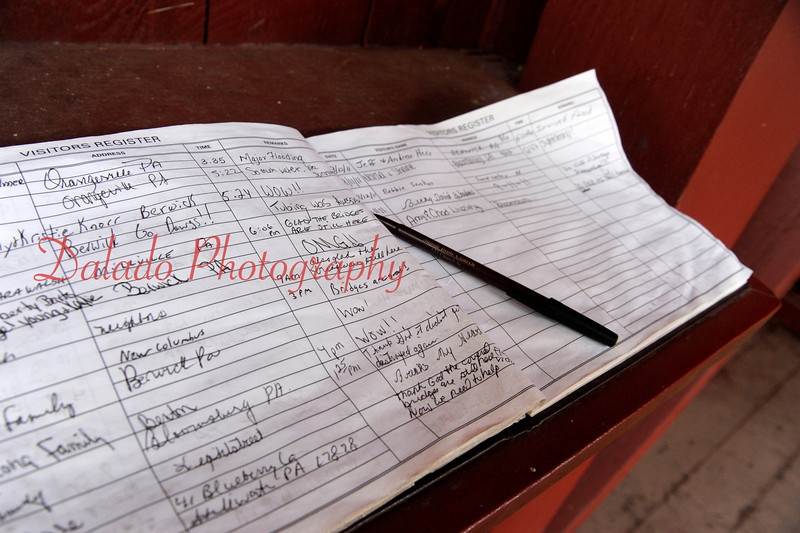Twin Bridges guest book. Both bridges survived the flood, unlike in 2006 when high water destroyed one of the them.