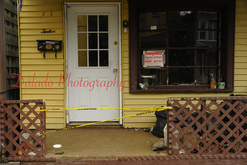 A condemned building on Rock Street in the 5th Ward of Shamokin.