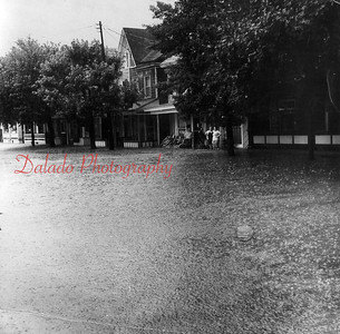 Flooding on Second Street during Hurricane Agnes is shown in Aug. 1972.