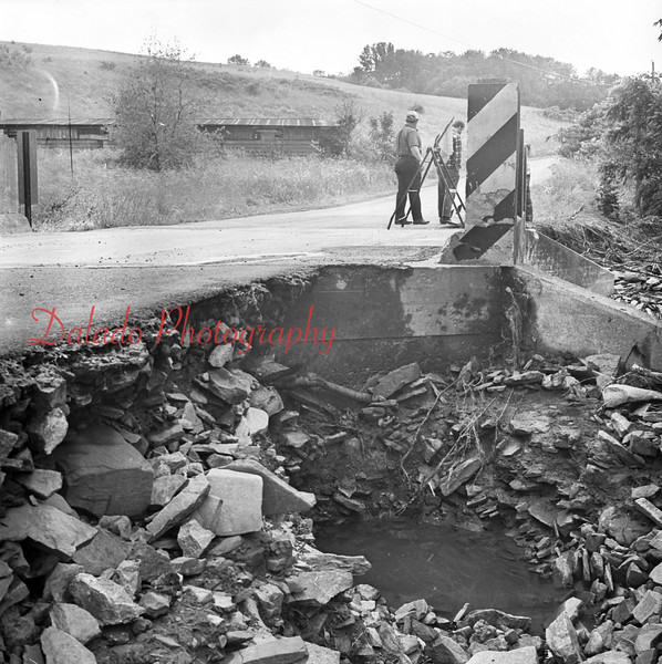 (1972) Agnes damage on road near Paxinos.