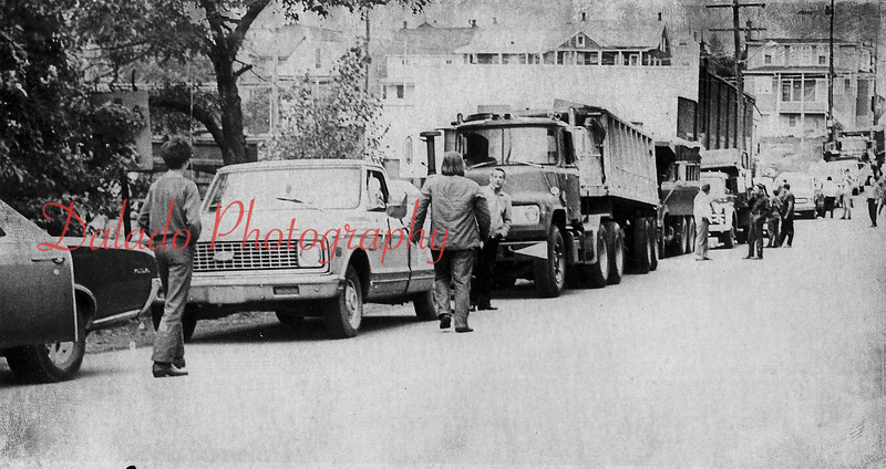Trucks in Kulpmont.