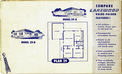 Lakewood Park, Floor Plans for Model 29 A and B