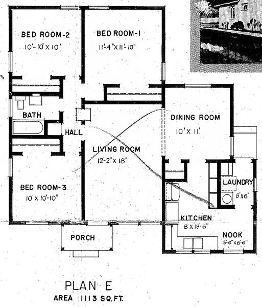 Carson Park, Floor Plan for Model E