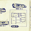 Lakewood Park, Floor Plans for Model 22 A, B, and C