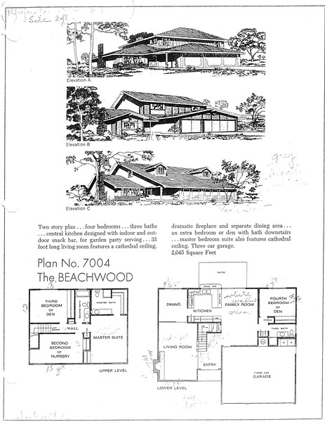 Lakewood Estates, Floor Plan for Model 7004