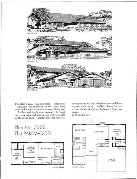 Lakewood Estates, Floor Plan for Model 7003