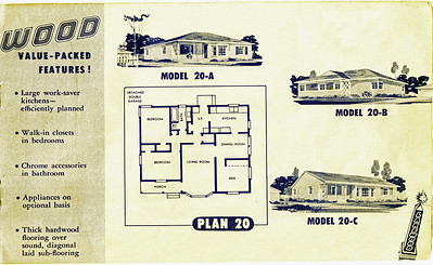 Lakewood Park, Floor Plans for Model 20 A, B, and C