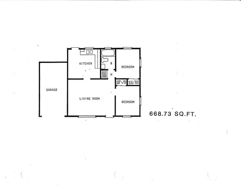 Lakewood Manor, Floor Plan for Model 45966