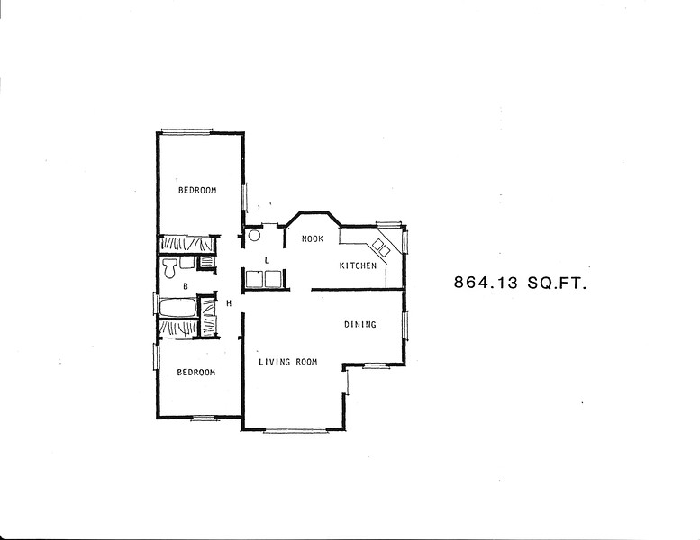 Mayfair Tract, Floor Plan for Model 4-219 and 4-221