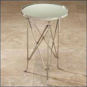 designer mirrored end table