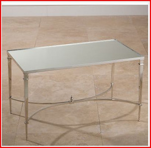 designer mirrored coffee table