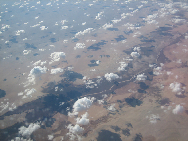 aerial view of Africa's semi desert