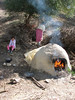 heating the oven to bake bread (Chefchaouen -6- Quazzane - Ain-Defali - Douyet - Fes)