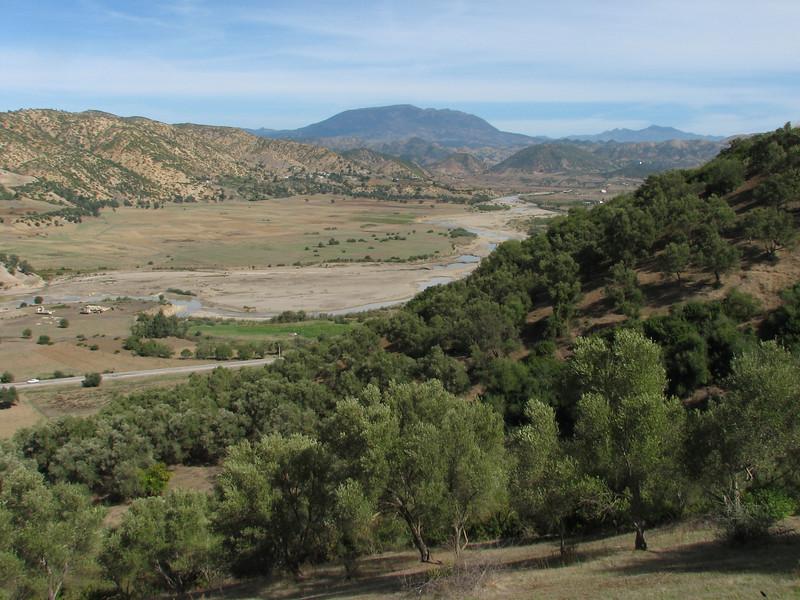 the valley near Quazzane (Chefchaouen -6- Quazzane - Ain-Defali - Douyet - Fes)