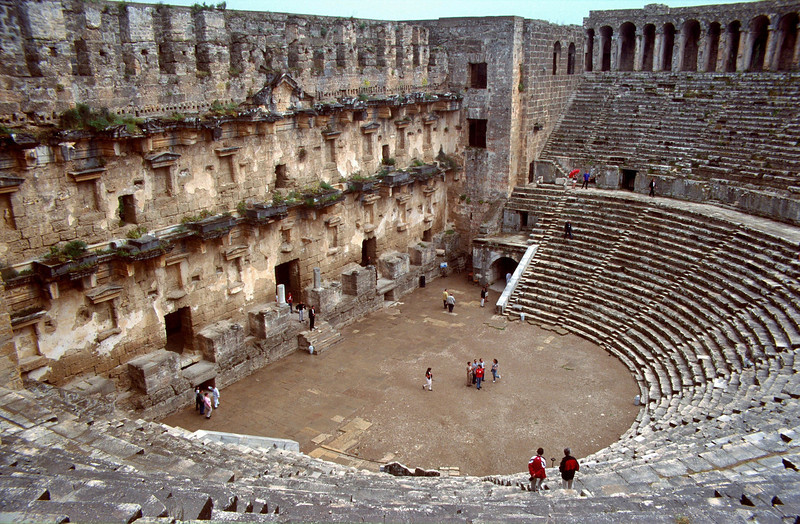 archeological site, Aspendos arena, Alanya-Antalya