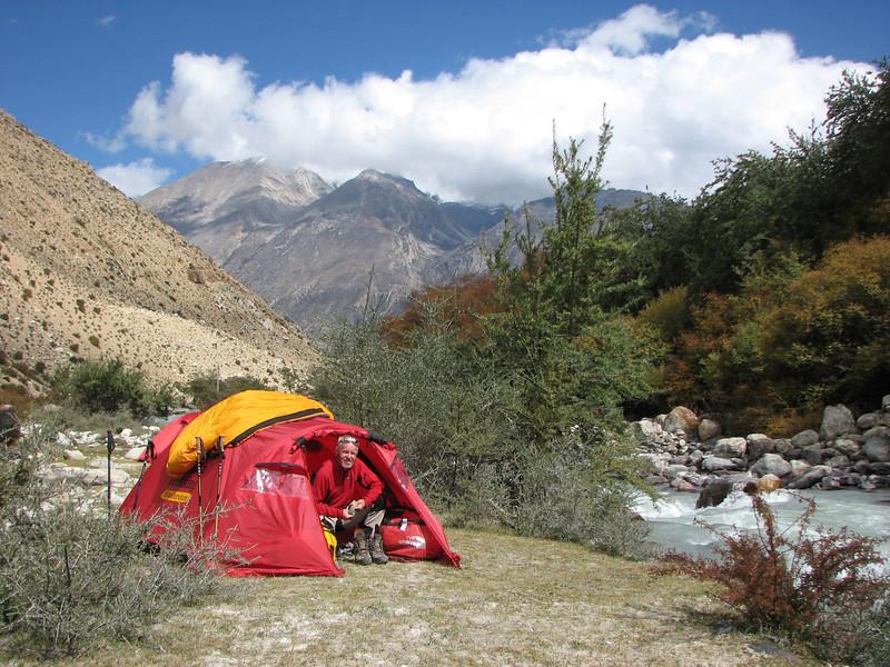 River Camp 4941m-Kharta Camp 3710m