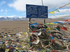 Sign on a pass, Tibetan Plateau, Everest Base Camp 5156m-Zangmu