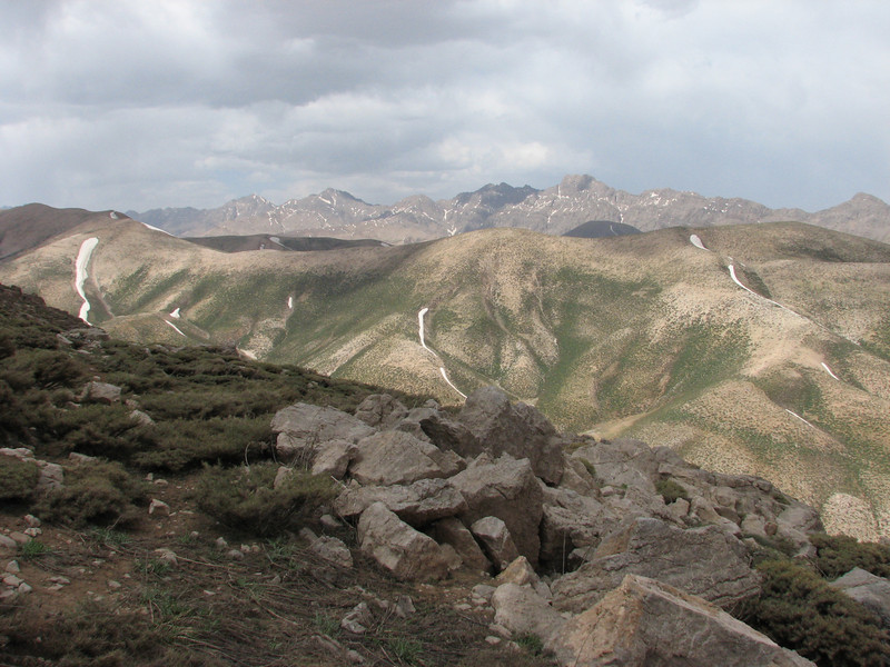 Landscape with limestone rocks