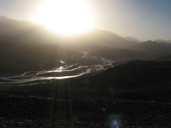 sunset in the Zagros Bazoft Valley