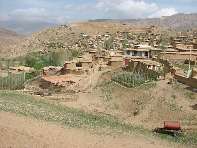 Iranian village, fitting in landscape