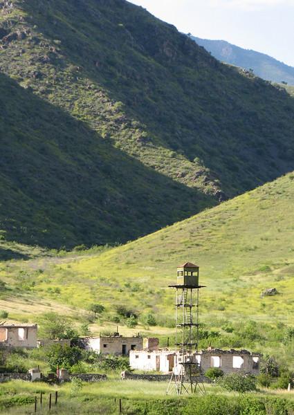 observation tower, near the border Iran-Armenia