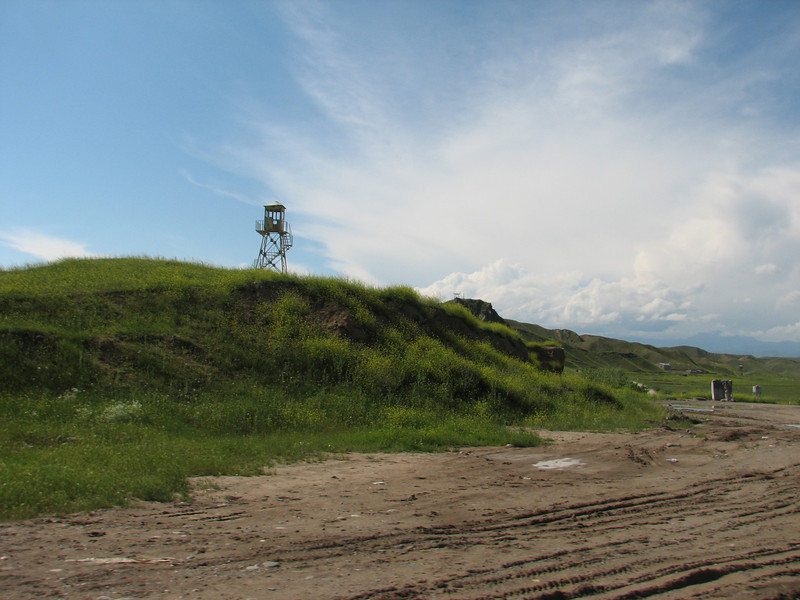 an observation tower near the border Iran-Azarbayjan