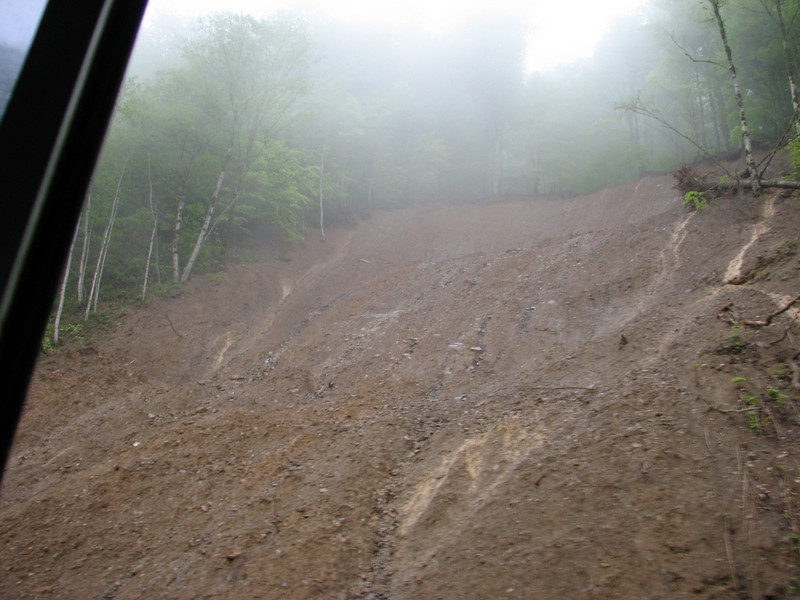 landslides after heavy rainfall (Iran, Gilan, Tales mountains)