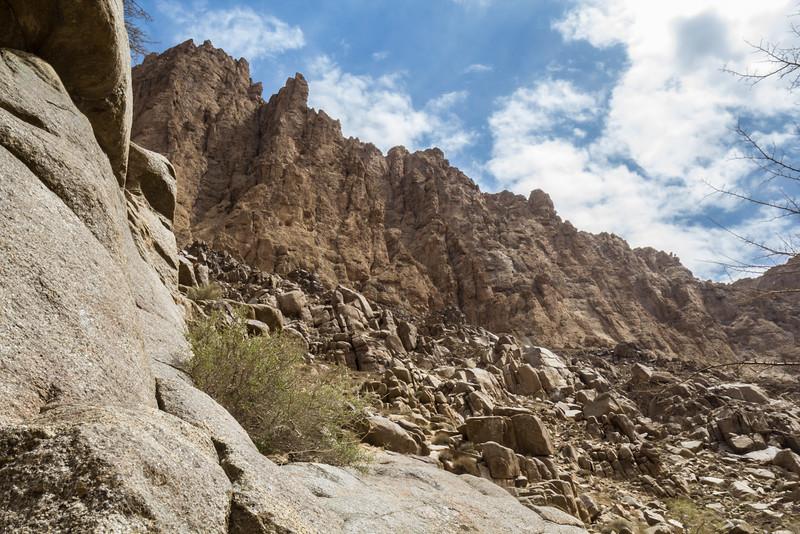 Shirkuh mountains, granite and limestone