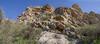 Limestone, habitat of  Dionysia diapensiifolia