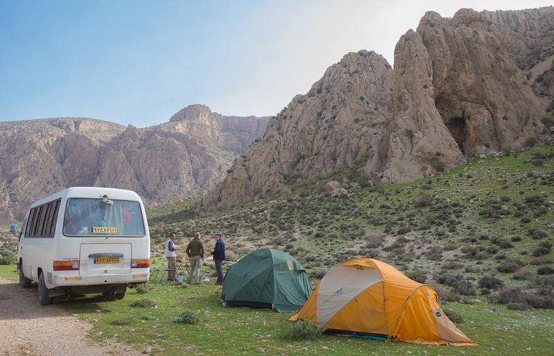 Camp at location H 4-5 April 2015