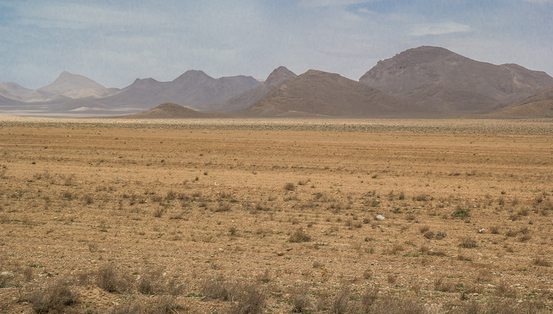 Semi desert and the foothills of the Zagros mountains