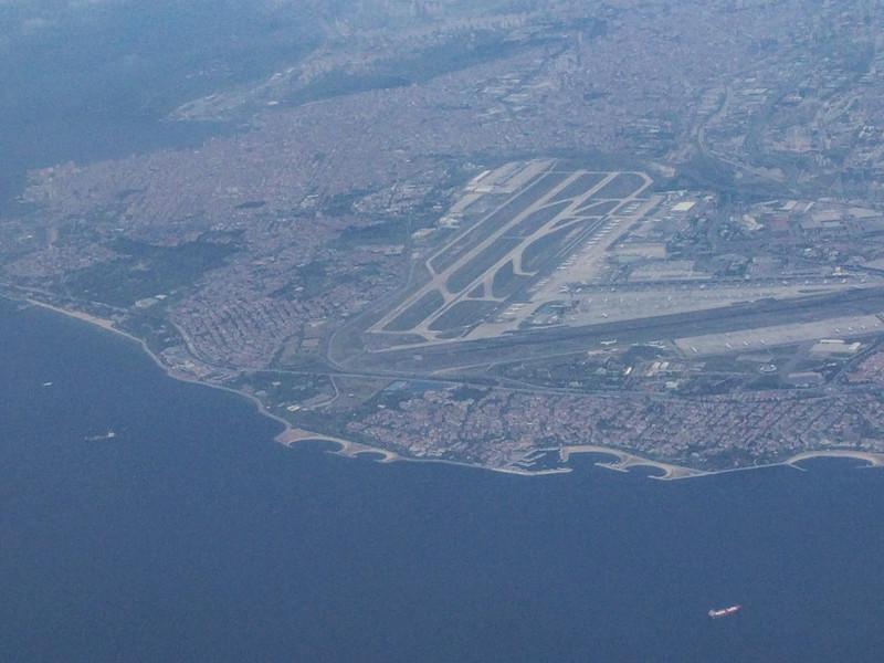 Sea of Marmara and Ataturk Int. Airport, Istanbul